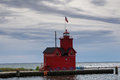 Big Red Lighthouse Royalty Free Stock Photo