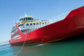Big red passenger ferry sea transportation Stock Photography