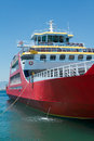 Big red passenger ferry sea transportation Stock Photos