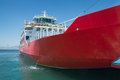 Big red passenger ferry sea transportation Royalty Free Stock Photo