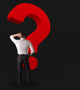 Big red question mark Royalty Free Stock Photo