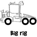 Big rig with hand draw vector