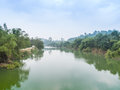 Big river thailand in langsuan chumphon Stock Photography