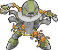 Big Robot Vector Illustration Royalty Free Stock Photo
