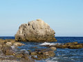 Big rock in the Black Sea. Crimean peninsula. Stock Image