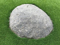 A big rock on lawn Royalty Free Stock Photo