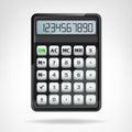 Big Round Black Calculator Obj...