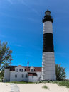 Big sable point lighthouse located near manistee michigan on the shores of lake michigan Royalty Free Stock Photos