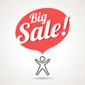 Big sale announcement symbol vector icon of Royalty Free Stock Image