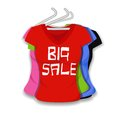 Big sale on apparel illustration of colorful t shirt Royalty Free Stock Photography