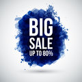 Big sale background lettering on a stylized ink blot vector illustration Royalty Free Stock Image