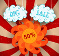 Big sale background vector illustration Royalty Free Stock Image