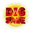 Big sale badge with halftone effect Royalty Free Stock Image