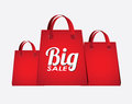 Big sale bags over white background vector illustration Stock Photo