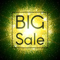 Big sale banner. Abstract explosion with glitter. Royalty Free Stock Photo