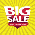 Big Sale Banner or Poster. Summer Sale and Clearance Card. Royalty Free Stock Photo
