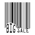 Big Sale bar codes all data is fictional.  Royalty Free Stock Photography