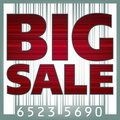 Big sale barcode illustration. EPS 8 Stock Photography