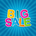 Big sale blue poster d on background Stock Images