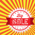 Big sale design over grunge background vector illustration Stock Photography