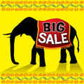 Big sale elephant poster Stock Photography