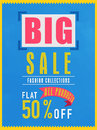Big sale flyer, banner or poster.