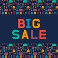 Big sale of furniture. Design a flyer or banner for shop interio