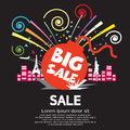Big sale graphic vector illustration Stock Photography