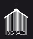 Big sale hanger Stock Photo