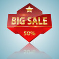 Big sale icon promotional design vector illustration Stock Image