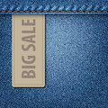 Big Sale Jeans Background Royalty Free Stock Images