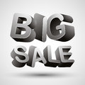 Big sale lettering made with d letters isolated on white background vector illustration Stock Photo
