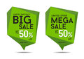Big sale and maga sale banner up to 50% off, Ecology, Organic Royalty Free Stock Photo