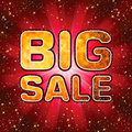 Big sale message. EPS 8 Stock Images