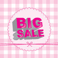 Big sale over pink background vector illustration Royalty Free Stock Image