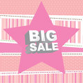 Big sale over pink background vector illustration Stock Photos