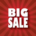 Big sale poster design with bold font and long