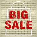 Big sale poster folding design Royalty Free Stock Image