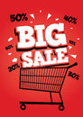 Big sale poster vector of easy to edit Stock Photography