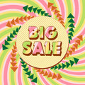 Big sale poster vector illustration Stock Image
