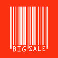 Big Sale red bar codes.  Stock Photos