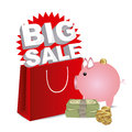 Big sale saving over white background vector illustration Stock Photography
