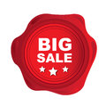 Big sale seal over white background vector illustration Royalty Free Stock Photography