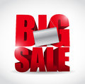 Big sale sign and banner illustration design over white Royalty Free Stock Photos