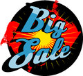 Big sale sign comic book style illustrated Stock Photography