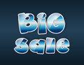 Big sale sign on dark background Stock Image