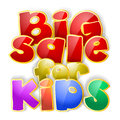 Big sale sign for kids Stock Images
