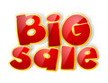 Big sale sign red with shadow Stock Image