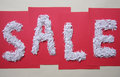 Big sale sign white on red background Royalty Free Stock Photos