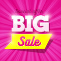 Big Sale special offer banner Royalty Free Stock Photo